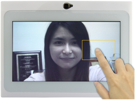 Single-finger touch to trigger the auto-focus function