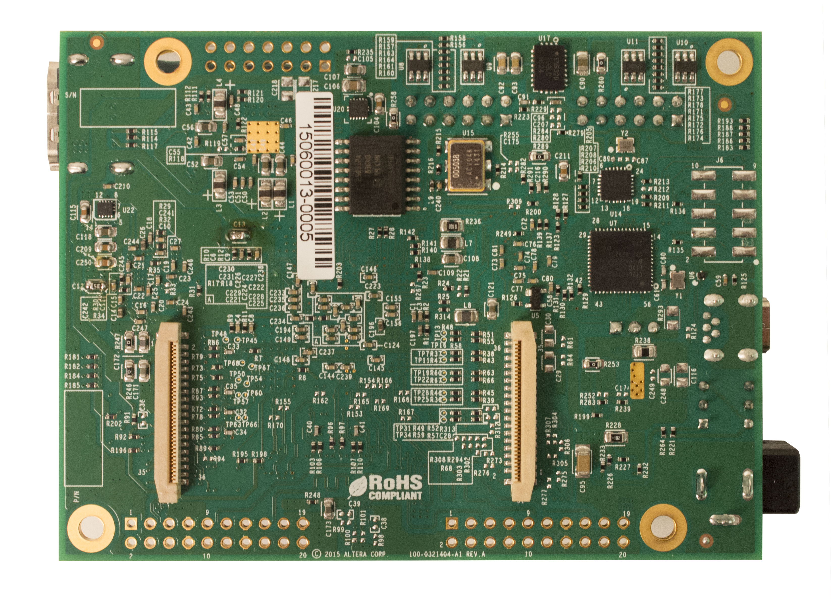 10M50 Evaluation Board-Back side